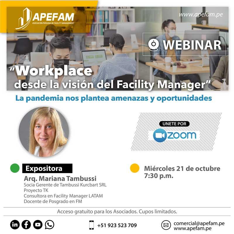 Webinar: Workplace desde la visión del Facility Manager.