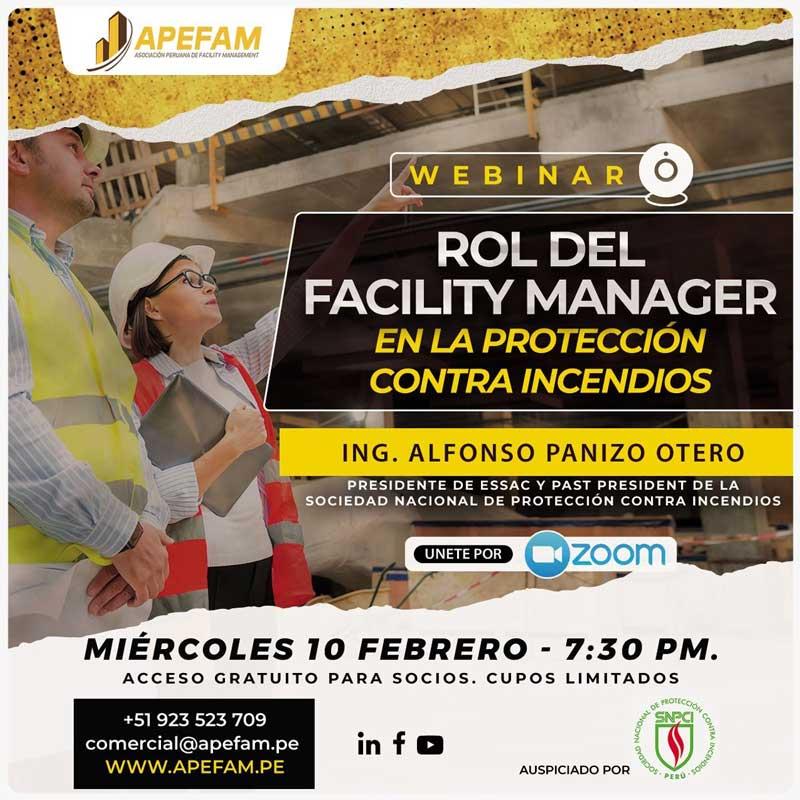 Webinar - Rol del Facility Manager en la Protección Contra Incendios