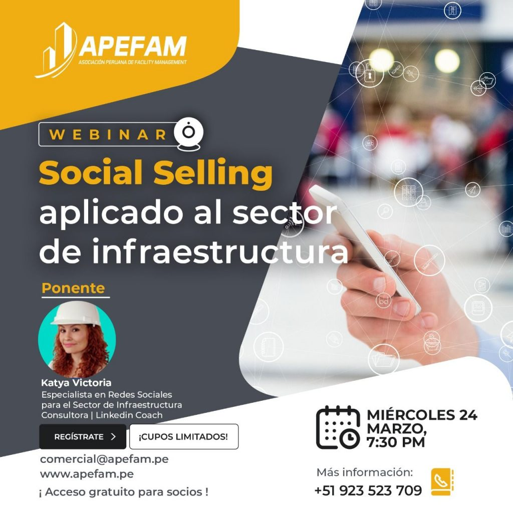 Webinar: Social Selling aplicado al sector infraestructura
