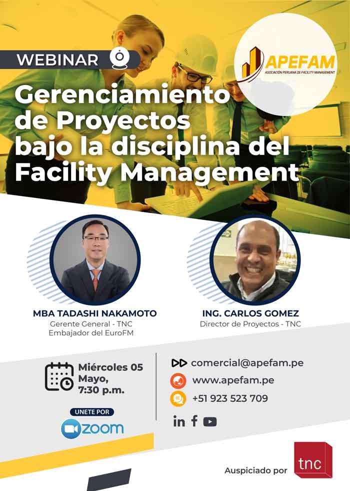 Webinar: Gerenciamiento de Proyectos bajo la Disciplina del Facility Management