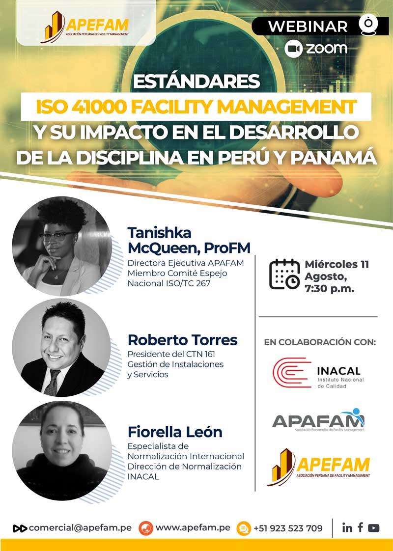Webinar: Estándares ISO 41000 Facility Management y su impacto en perú y Panamá